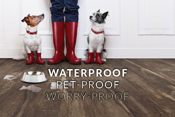Waterproof, Pet-Proof, Worry-Proof Luxury Vinyl on Sale this month!