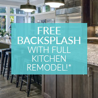 Free Backsplash With Full Kitchen Remodel*