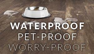 Waterproof, Pet-Proof, Worry-Proof Luxury Vinyl on Sale this month!